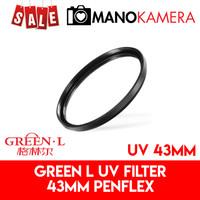 Filter UV 43mm Green-L Penflex Pelindung Lensa Original