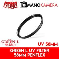 Filter UV 58mm Green-L Penflex Pelindung Lensa Original