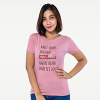 SEYES S5916 Tumblr Tee T-Shirt Kaos Cewe Baju Atasan Wanita Pink