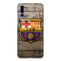 Indocustomcase FC Barcelona Logo 08 Hard Case Cover For Huawei P20 Pro
