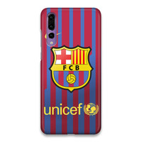Indocustomcase FC Barcelona Logo 04 Hard Case Cover For Huawei P20 Pro