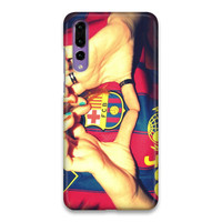 Indocustomcase FC Barcelona Logo 12 Hard Case Cover For Huawei P20 Pro