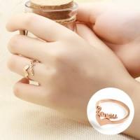 Cincin Fashion Korea Ring 18K Rose Gold Love Letters Love Ring AG5057