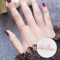 Cincin Fashion Korea Ring Rose Gold Tail Frosted Elf AG5049