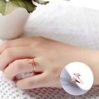 Cincin Fashion Korea Ring Star Ring Rose Gold AG5061