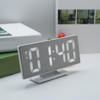 Jam Meja Digital LED Weker DS-3618L Digital Alarm Clock Mirror