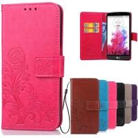Casing Hp Printing Flower Case LG G3 Stylus D690 Leather Wallet Flip
