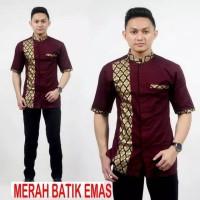 Koko Batik Prada/ Koko pria lengan pendek