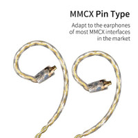 Knowledge Zenith Kabel KZ Upgrade Gold Silver Mixed Plated - MMCX