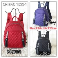 SG1030 Tas Ransel Wanita Import Backpack Sighmon/Chibao Bordir