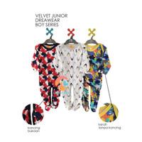 VELVET JUNIOR DREAMWEAR 3-Piece Sleepsuit Tutup Kaki Size Large (BOY)