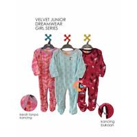 VELVET JUNIOR DREAMWEAR 3-Piece Sleepsuit Tutup Kaki Size Large (GIRL)