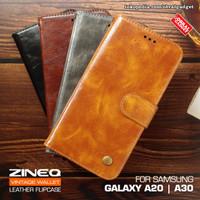Wallet Leather Flip Case Samsung A20 A30 Flipcase Cover Soft Casing