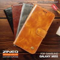 Wallet Leather Flip Case Samsung M20 Flipcase Cover Soft Casing Dompet