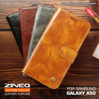 Wallet Leather Flip Case Samsung A50 Flipcase Cover Soft Casing Dompet