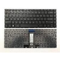 KEYBOARD HP 14-BS 14-BW TPN Q186 Q187 240 G6 BLACK NON FRAME BLACK