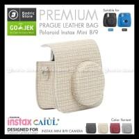 Fujifilm Leather Bag Polaroid Instax Mini 8 & 9 Tas Prague Beige Case