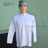 Baju Koko Pria Dewasa - Lengan Panjang - Putih - RLP 2