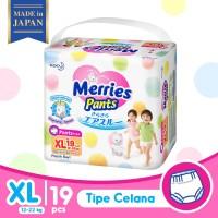 Merries Baby Diapers Pants XL 19S - Popok Bayi