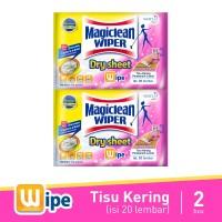 Magiclean Wiper Dry Sheet 20S 2pcs