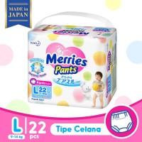 Merries Baby Diapers Pants L 22S - Popok Bayi
