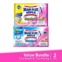 Magiclean Wiper Dry Sheet 20S + Magiclean Wiper Wet Sheet 8S