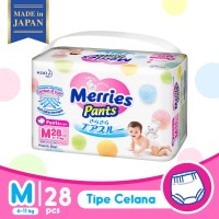 Merries Baby Diapers Pants M 28S - Popok Bayi