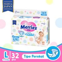Merries Baby Diapers Tape L 32S - Popok Bayi