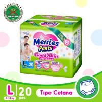 Merries Pants Good Skin L 20S - Popok Bayi/Diapers