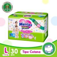 Merries Pants Good Skin L 30S - Popok Bayi/Diapers