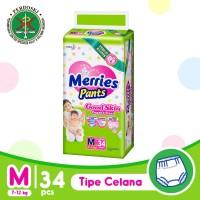 Merries Pants Good Skin M 34S - Popok Bayi/Diapers