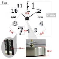 Jam Dinding DIY Giant Wall Clock RFOMHAKZBK