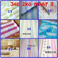 Wallpaper dinding sticker 45 cm x 10 m ( jne 2 kg = 3 roll )