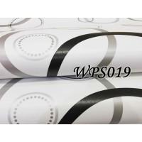 METH WALLPAPER STICKER WPS019 BLACK SILVER CIRCLE AIHUA WALPAPER