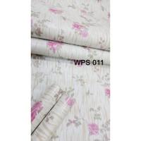 METH WALLPAPER WPS011 PINK FLOWER N GOLDEN MOTIF WALPAPER DINDING