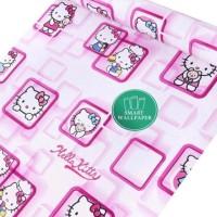 Hello Kitty Box Pink   Wallpaper 45cm x 10m