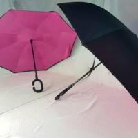 Payung Terbalik Kazbrella 2nd Generation Tombol Merah NON SARUNG