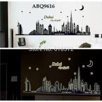 WALLSTICKER GLOW60X90 ABQ9616 DUBAI CITY OF GOLD