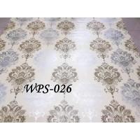 WPSBGS WPS026 BROWN N SILVER MOTIF WALLPAPER STICKER WALPAPER DINDING