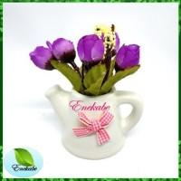 Bunga Hias Artificial Vas Vintage