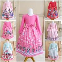 BAJUKIDDIE LOL LONG DRESS . gamis anak perempuan gaun import baju gaun