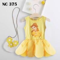Dress Bunga Putri Bell Kuning