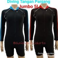 Baju Renang Diving Dewasa Unisex Jumbo 5L tangan panjang celana pendek