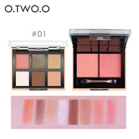 O.TWO.O 6 Colors Eyeshadow+2 Colors Blusher Palette