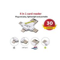 iDragon OTG 4 IN 1 USB MICRO/ TYPE C/ Iphone CARD READER STORAGE