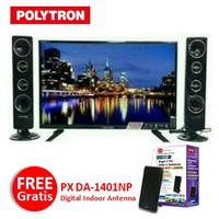 "POLYTRON LED TV PLD 32T7511 CinemaX 32"" Tower FREE Antena PX DA-1401NP"