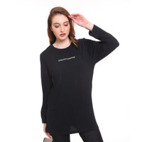 DAMN! I LOVE INDONESIA TEE LONGSLEEVE RESPECT GARUDA BLACK FEMALE