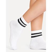 Kaos Kaki Ankle Urban White Striped