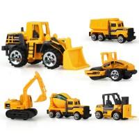 Mainan Mobil-Mobilan Truck Konstruksi Diecast Anak 6 PCS