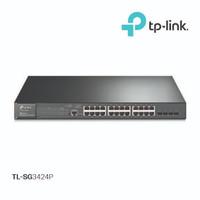 TPLINK TL-SG3424P JetStream Switch 24-Port Gigabit L2 Managed PoE+